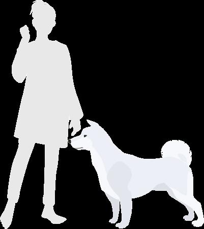 犬と北海道犬の比較